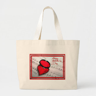 Happy Valentine's Day Large Tote Bag