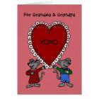 Happy Valentine's day mice for grandparents Card