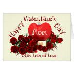 Happy Valentine's Day Mom Greeting Card