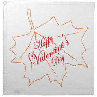Happy Valentine's Day Napkin