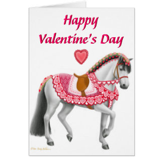Happy Valentines Day Parade Horse Card
