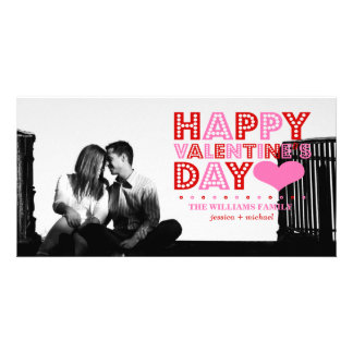 Happy Valentine's Day Photo Card Template