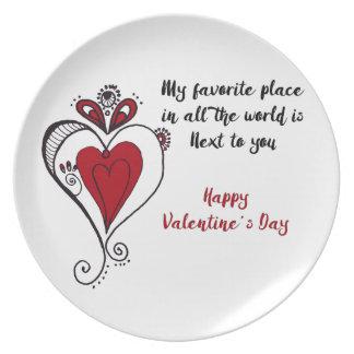 Happy Valentine's Day Plate