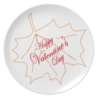 Happy Valentine's Day Plate