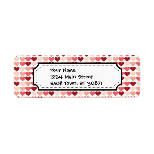 Happy Valentine's Day Red Pink Hearts Pattern