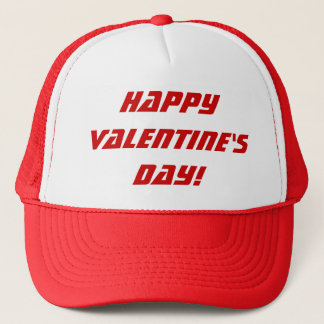 Happy Valentine's Day Red & White Hat