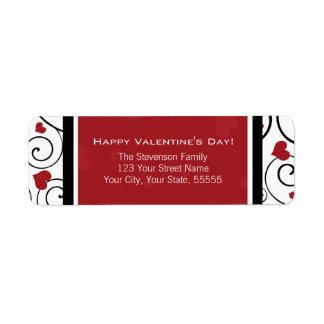 Happy Valentine's Day Return Address Labels Red