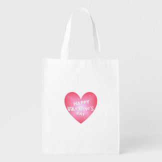 Happy Valentine's day Reusable Grocery Bag