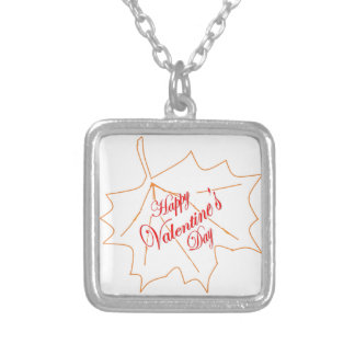 Happy Valentine's Day Silver Plated Necklace