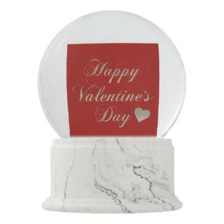 Happy Valentine's Day Snow Globe