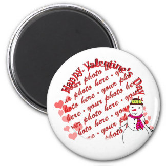 Happy Valentine's Day Snowy Sweetheart Girl Magnet
