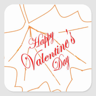 Happy Valentine's Day Square Sticker