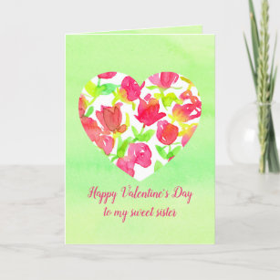 For Sister Valentines Day Cards Zazzleca