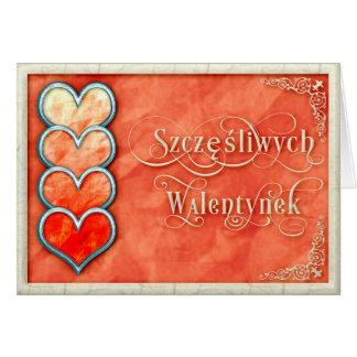 Happy Valentine's Day+Szczęśliwych Walentynek Card