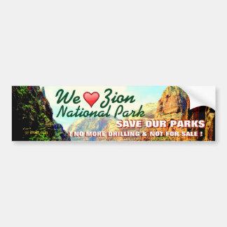 HAPPY VALENTINE'S DAY TO ZION NATIONAL PARK.. BUMPER STICKER