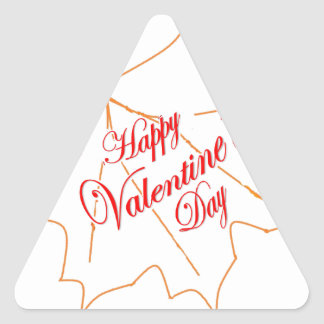 Happy Valentine's Day Triangle Sticker