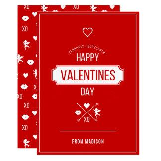 Happy Valentine's Day Valentine Symbols Card