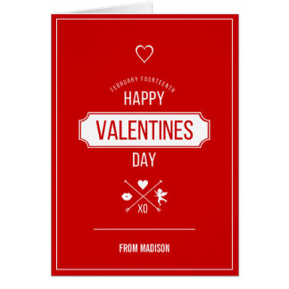 Happy Valentine's Day Valentine Symbols Card