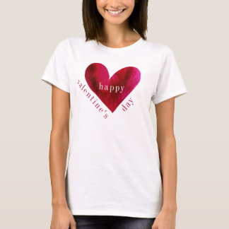 Happy Valentine's Day | Watercolor Heart T-Shirt