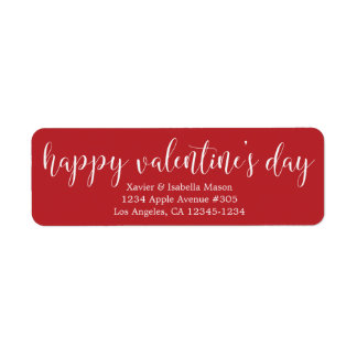 Happy Valentine's Day White Script