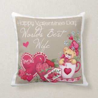 Happy Valentines Day Wife Pillow