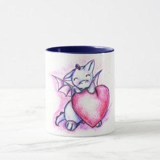 Happy Valentine's Munchkin Dragon Mug