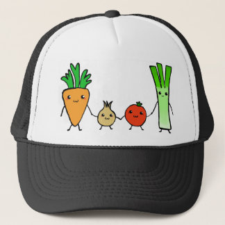Happy veg trucker hat