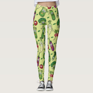 Happy Vegetables Pattern Leggings