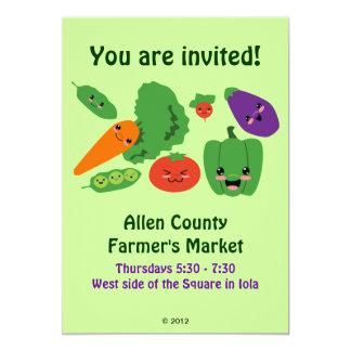Happy Veggies Invitations