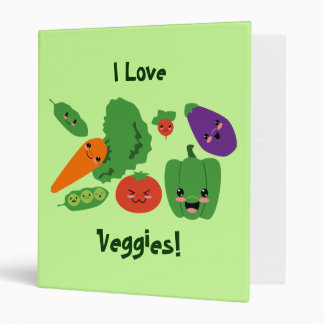 Happy Veggies Vinyl Binder