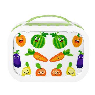 Happy Veggies Yubo Lunchbox, Green Lunchbox