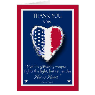 Happy Veterans Day for a Son, The Hero's Heart Card