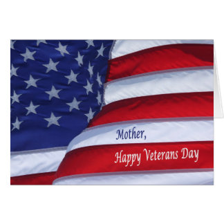 Happy Veterans Day Mother greeting card