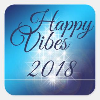 Happy Vibes 2018 Sticker Square