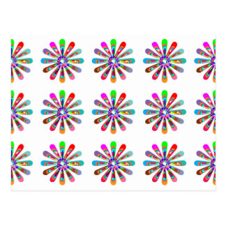 HAPPY Vibes Graphic Flower CHAKRA Art Post Card