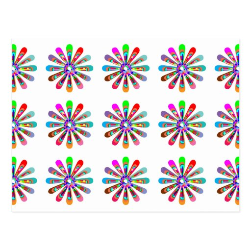 HAPPY Vibes :  Graphic Flower CHAKRA Art Postcards