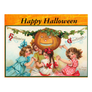 Happy Vintage Halloween Post Card