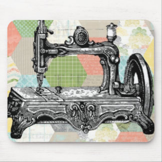 Happy Vintage Sewing Mouse Pad