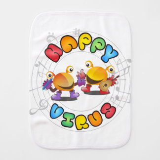 Happy Virus Product Range Burp Cloth