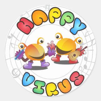 Happy Virus Product Range Classic Round Sticker