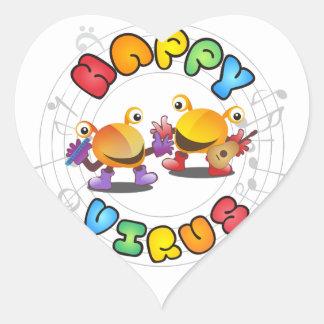 Happy Virus Product Range Heart Sticker