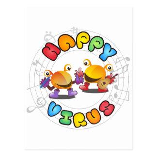 Happy Virus Product Range Postcard