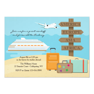 Happy Voyage Farewell Party Invitation
