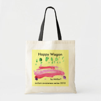 Happy Wagon by MAXarT Tote Bag