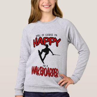 HAPPY WAKEBOARDER (black) Sweatshirt