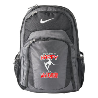HAPPY WAKEBOARDER (white) Backpack