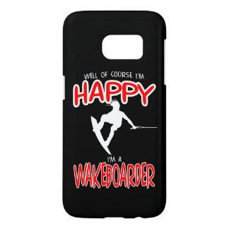 HAPPY WAKEBOARDER (white) Samsung Galaxy S7 Case