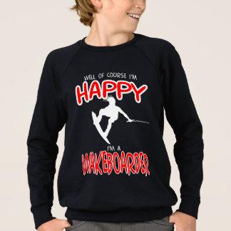 HAPPY WAKEBOARDER (white) Sweatshirt