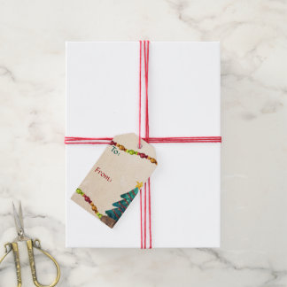Happy Watercolor Christmas To-From Gift Tags