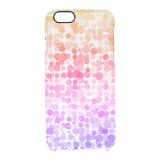 Happy Watercolor Dots Clear iPhone 6/6s Case